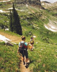 hiking, exploring